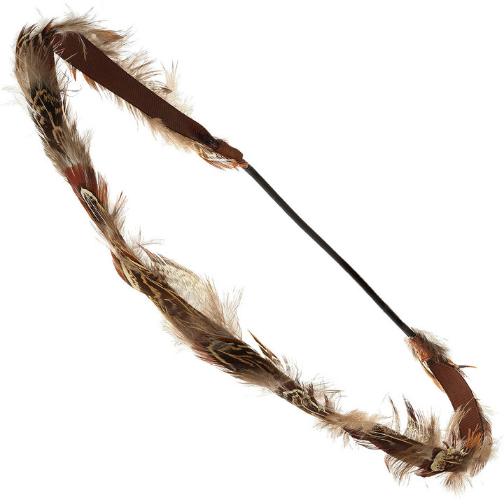 Brown Feather Headband