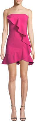 LIKELY Monetta Strapless Ruffle Mini Dress