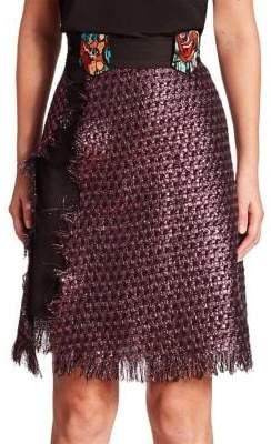Roberta Einer Night Tweed Wrap Skirt