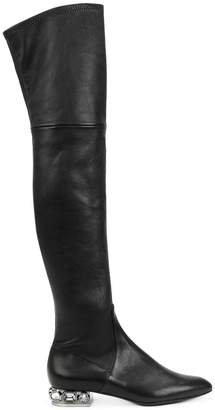 Casadei embellished heel over-the-knee boots
