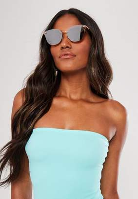 Missguided Gold Look Rimless Sunglasses