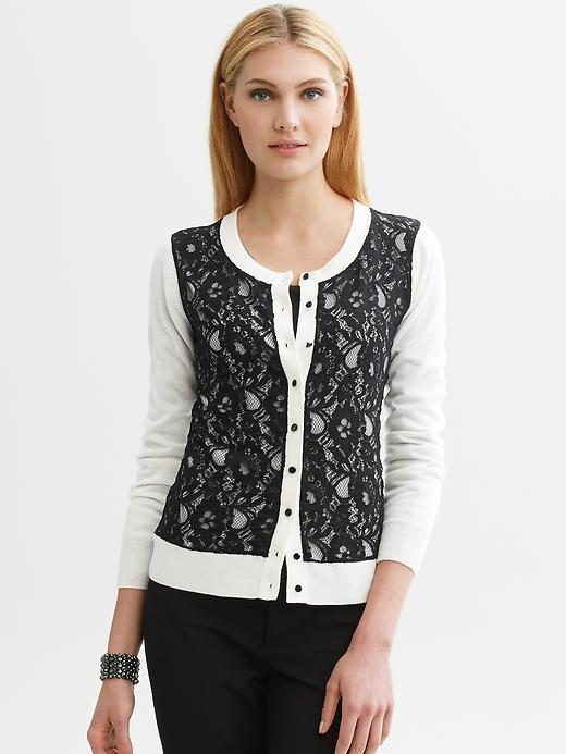Banana Republic Lace front cardigan
