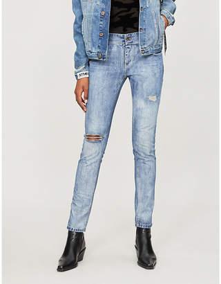 Faith Connexion Graffiti-tab mid-rise straight jeans