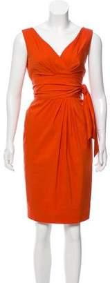 Max Mara Sleeveless Gathered Dress