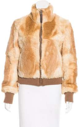 June Rabbit Fur Bomber Jacket