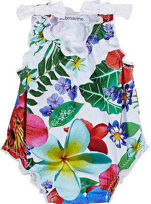 Submarine Floral Ruffle Tank Swimsuit $80 thestylecure.com