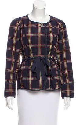 Marc by Marc Jacobs Collarless Plaid Jacket