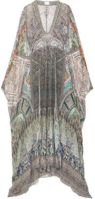 Camilla The Long Way Home Embellished Printed Chiffon Maxi Dress - Gray