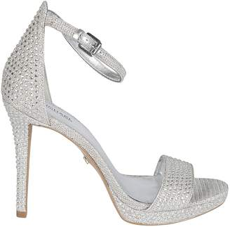 e186b6383cd2 Silver Embellished Sandals - ShopStyle UK