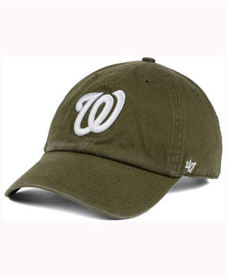 '47 Washington Nationals Olive White Clean Up Cap