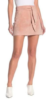 Blank NYC BLANKNYC Denim Tie Front Suede Mini Skirt
