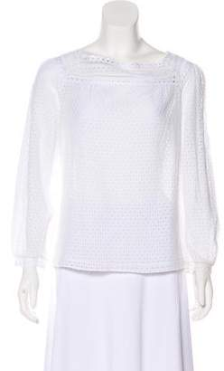 Marc by Marc Jacobs Crochet Long Sleeve Top