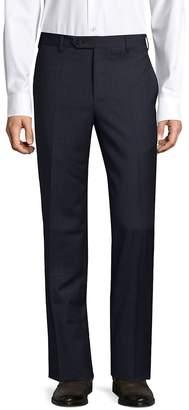 Zanella Men's Devon Slim-Fit Wool Flat-Front Pants