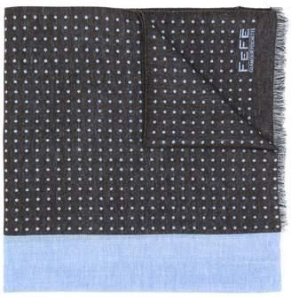 fe-fe polka dot patterned scarf