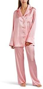 SLEEPER Women's Silk Satin Pajama Set - Pink