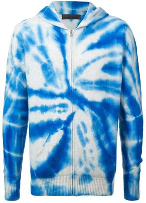 The Elder Statesman swirl dyed zip hoodie