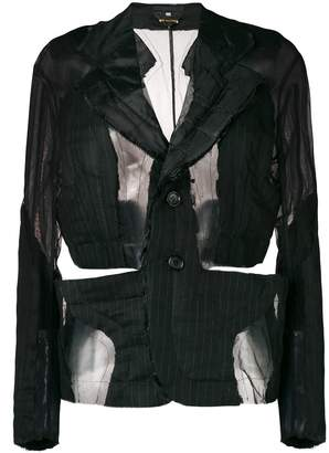 Comme des Garcons deconstructed pinstripe blazer