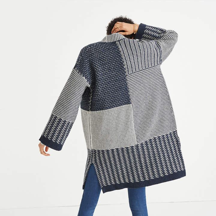Collage Cardigan Sweater