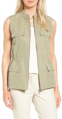 Women's Nordstrom Collection Flap Pocket Utility Vest $299 thestylecure.com