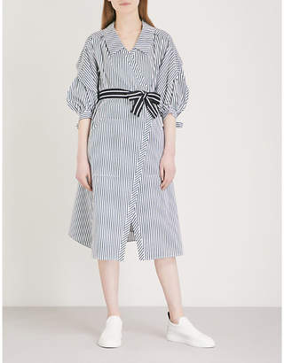 Maje Rilucci striped cotton shirt dress