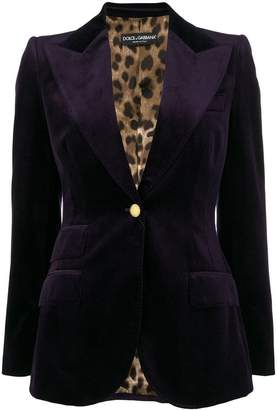 Dolce & Gabbana peaked lapel blazer