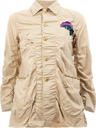 Undercover patched military jacket