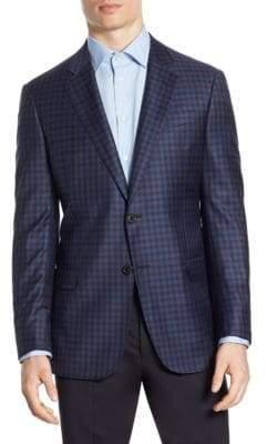 Giorgio Armani Check G Line Wool Sport Coat