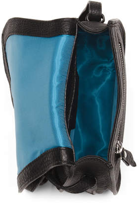 Made In Italy Multi Compartment Leather Crossbody