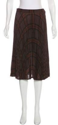 Gucci Plaid Plisse Skirt