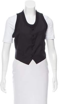 Jean Paul Gaultier Cropped Wool Vest