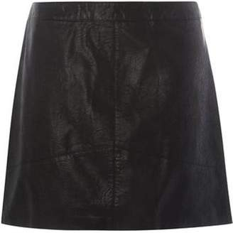 Dorothy Perkins Womens **DP Curve Black PU Mini Skirt