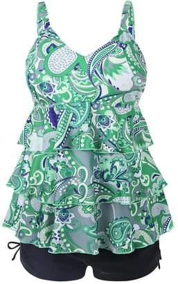 b94eb4894fb00 at Amazon Canada · GDEER Womens Swimwear Plus Size Padded Tankini Sets for  Ladies Vintage Swimsuit