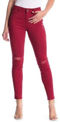 YMI Jeanswear Outerwear Wannabettabutt Distressed Mid Rise Skinny Jeans