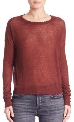 Helmut LangHelmut Lang Cashmere Raw-Edge Sweater