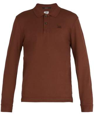 C.P. Company Long Sleeved Cotton Polo Shirt - Mens - Brown