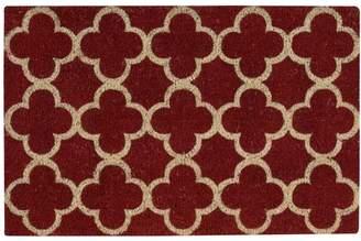 "Nourison Waverly Greetings ""Framework"" Red Doormat"