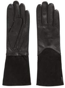 BOSS Hugo Longer-length lambskin gloves Touch Tech tips 6.5 Black