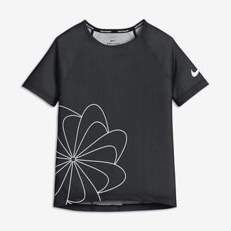 Nike Big Kids (Girls) Short Sleeve Graphic Running Top