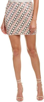 Lavender Brown Sequin Mini Skirt