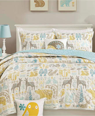 Ink+ivy Ink+Ivy Kids Woodland 3-Pc. Quilted Twin Coverlet Set Bedding