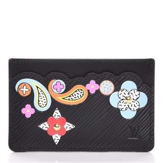 Louis Vuitton Card Holder Flower Remix Epi Noir Black
