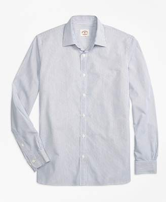 Nine to Nine Thin-Stripe Shirt $59.50 thestylecure.com