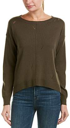 Michael Stars Women's Cashmere Blend Long Sleeve Crew Neck with Drop Stitch