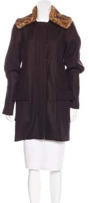 Ulla Johnson Faux Fur-Trimmed Wool Coat
