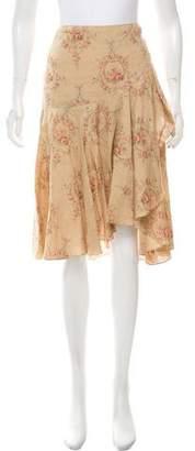 Ralph Lauren Floral Print Linen Skirt