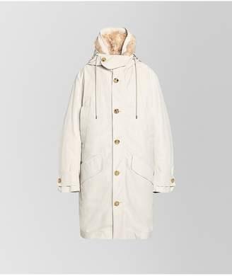 Bottega Veneta Coat In Technical Cotton And Mohair
