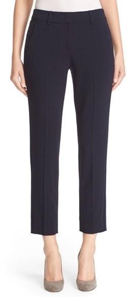 Women's Armani Collezioni Slim Crop Stretch Wool Pants