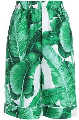 Dolce & Gabbana Printed Silk-Faille Shorts