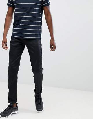 Replay Anbass slim stretch jeans in coated black