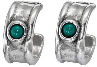 Uno de 50 Fortified Murano Glass Accented C-Hooped Earrings